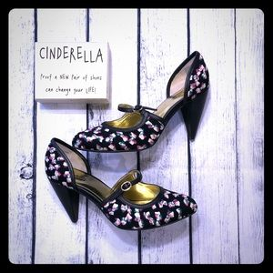 SEYCHELLES bow print mary jane heel